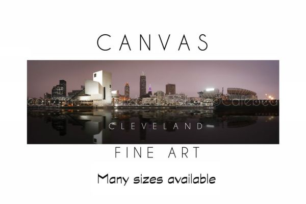Wall Art Canvas Print CLEVELAND Skyline Panoramic Poster ...