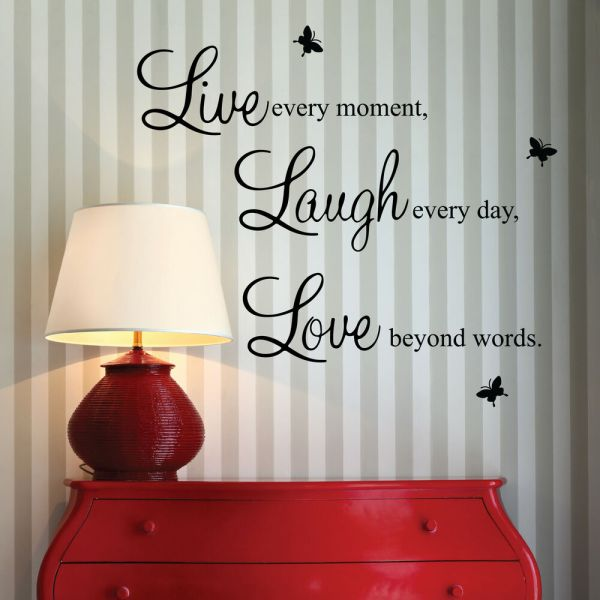 Live Laugh Love Vinyl Wall Quote Stickers Wall Decals