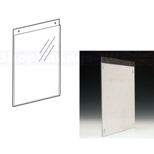 A4 A5 ACRYLIC WALL MOUNT POSTER HOLDERS ADVERTISEMENT ...