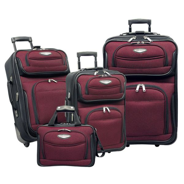 Travel Select Red Amsterdam 4-Piece Expandable Rolling ...