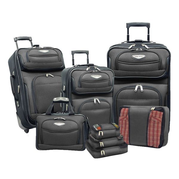 Travel Select Gray Amsterdam 8pc Rolling Luggage ...
