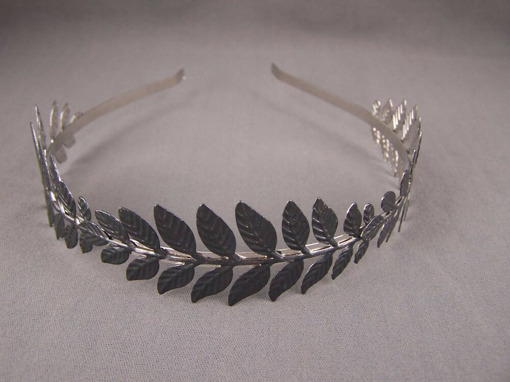 Black Laurel Leaf Crown Leaves Headband Hair Band Greek