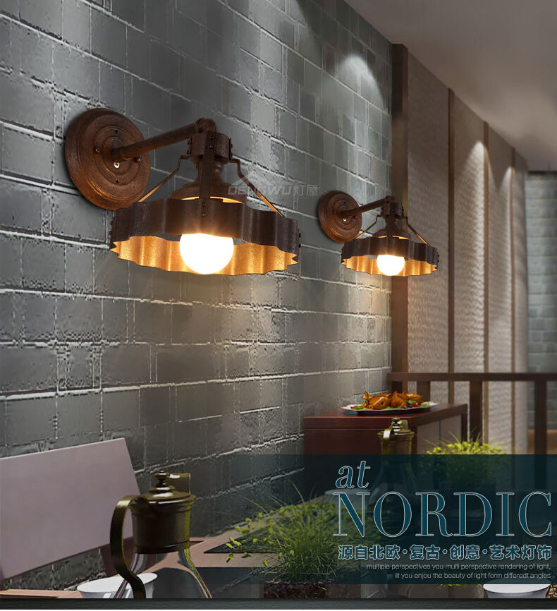 Industrial Barn Wall Sconce Antique Rustic Finished Pipe ... on Rustic Wall Sconces id=33418