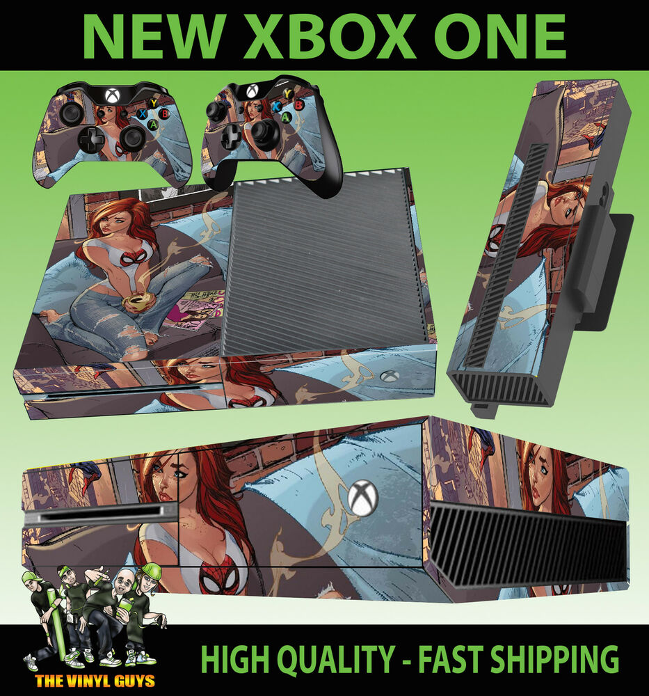 XBOX ONE CONSOLE STICKER MARY JANE SPIDERMAN GIRL REDHEAD