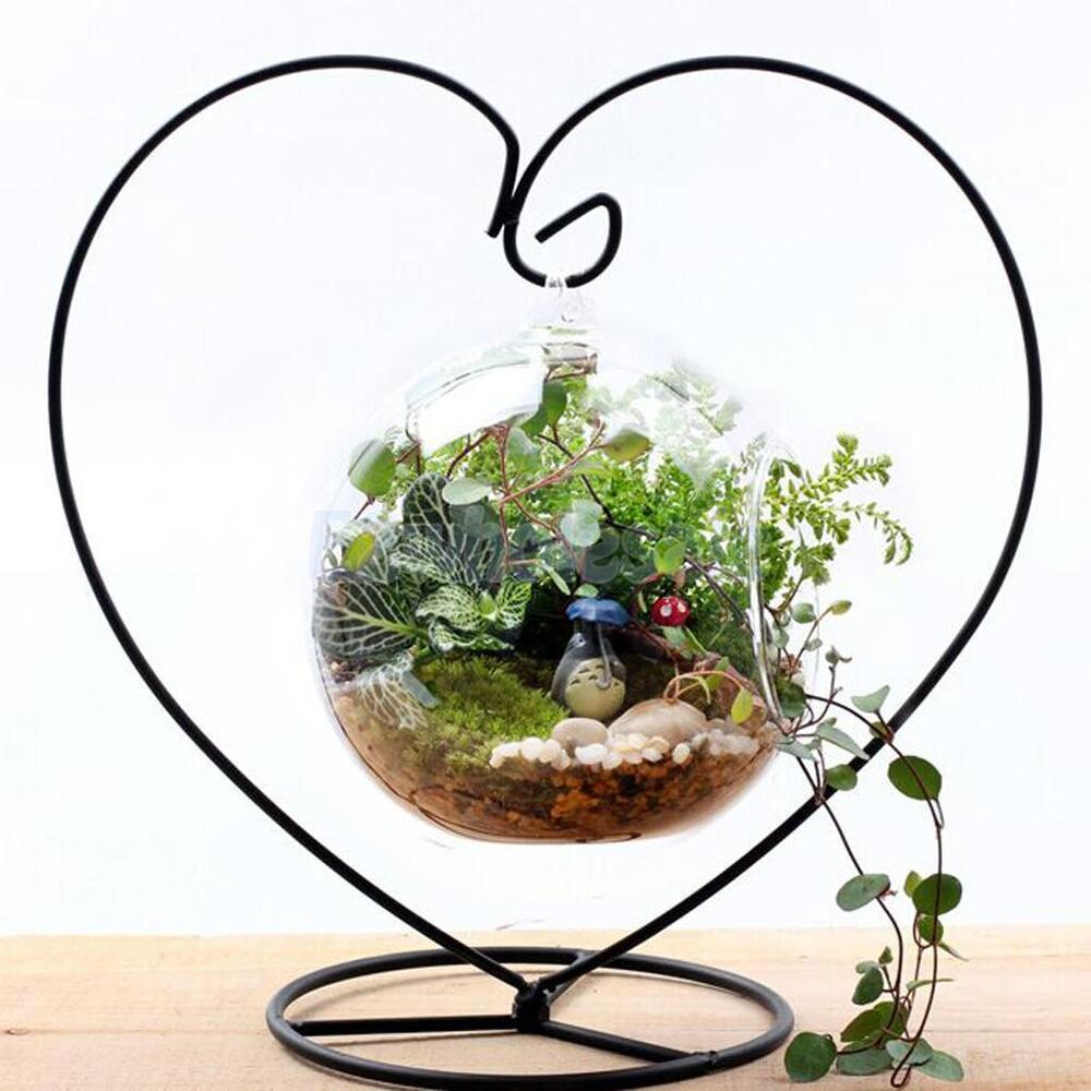 Iron Hanging Plant Flower Pot Stand Holder Landscaping ... on Hanging Plant Stand  id=39677