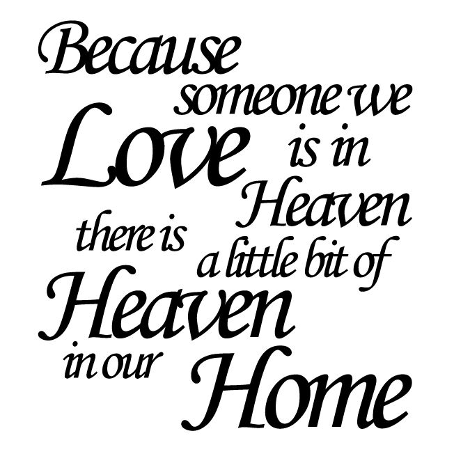 Download Because someone we love is in heaven Vinyl Sticker Ikea ...