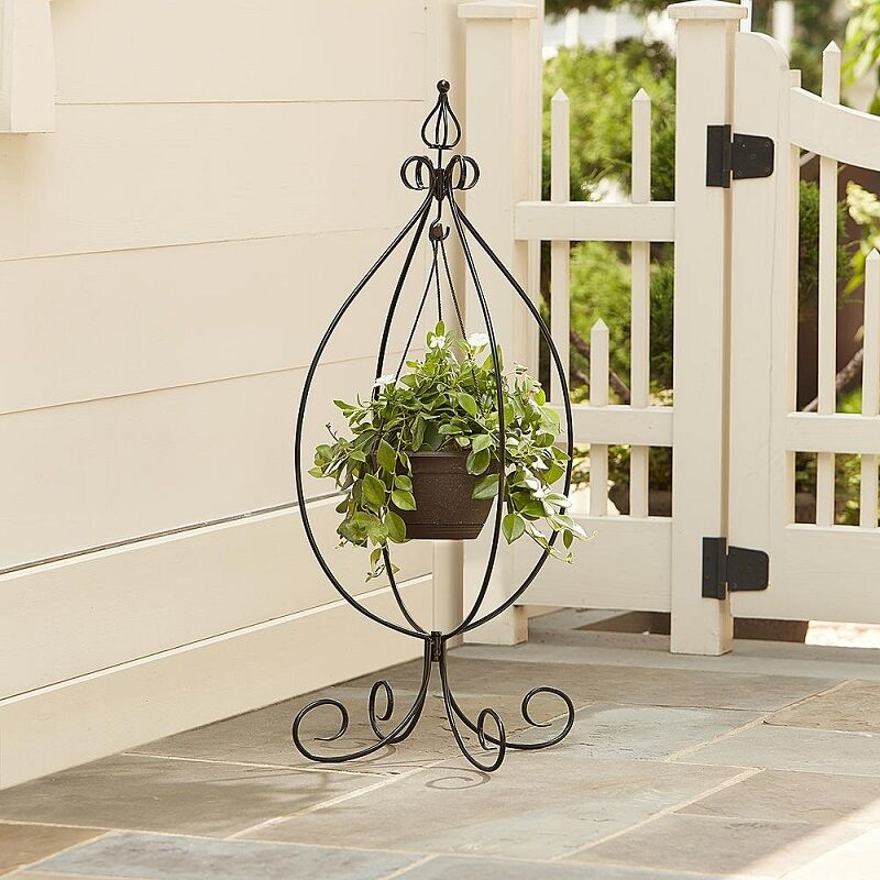 Plant Stand Hanging Pot Garden Decor Indoor Outdoor Patio ... on Hanging Stand For Plants  id=77176