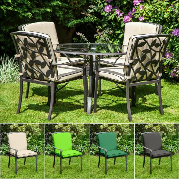 outdoor patio chairs Replacement Cushion for Homebase Lucca Metal Garden Patio