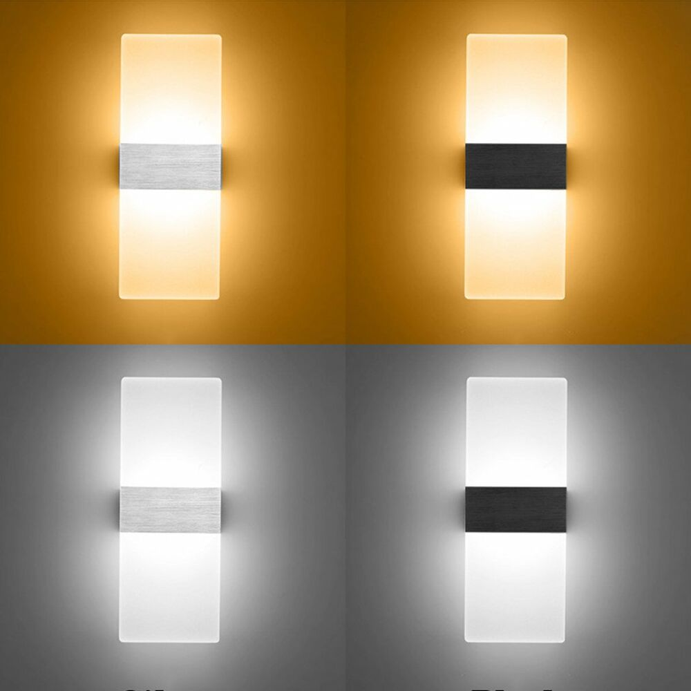 Modern LED Wall Lighting Up Down Cube Indoor Outdoor ... on Contemporary Wall Sconces Lighting id=90360