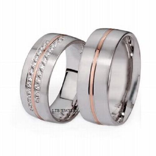 14K TWO TONE GOLD MATCHING HIS Amp HERS WEDDING BANDS