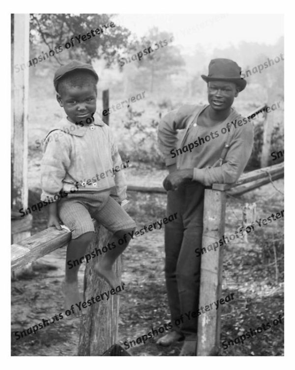Vintage photo-African American man and boy-8x10 in. | eBay