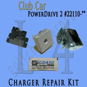 Club Car PowerDrive 2 #22110 48 Volt Golf Cart Battery Charger Repair Kit | eBay