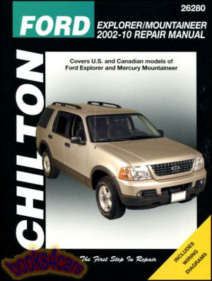 FORD EXPLORER MERCURY MOUNTAINEER SHOP MANUAL CHILTON