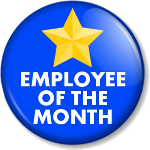 EMPLOYEE OF THE MONTH WEEK YEAR 25mm 1 Pin Button Badge