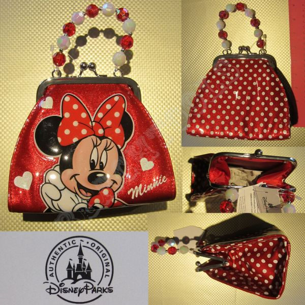 New Authentic Disney Parks Minnie Mouse Signatue Red Soft ...