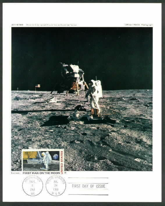 C76 1969 Official NASA PHOTOGRAPH First Day Moon Landing ...