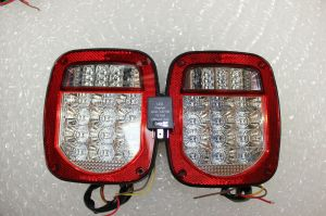 Jeep TJ Wrangler LED Tail Lights 2001 to 2006 with Flasher
