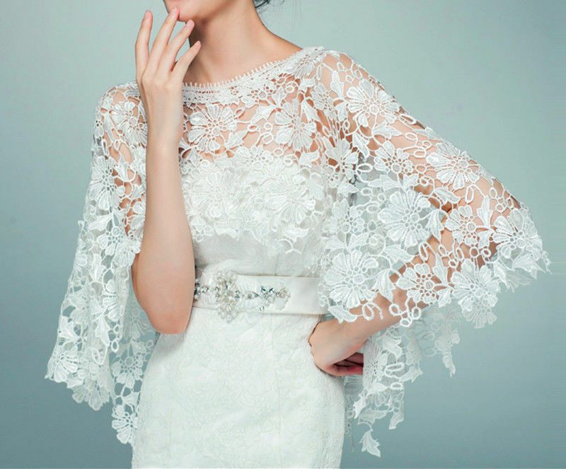 2015 Wedding New Top Lace Tulle Bridal Shawl Wrap Stole
