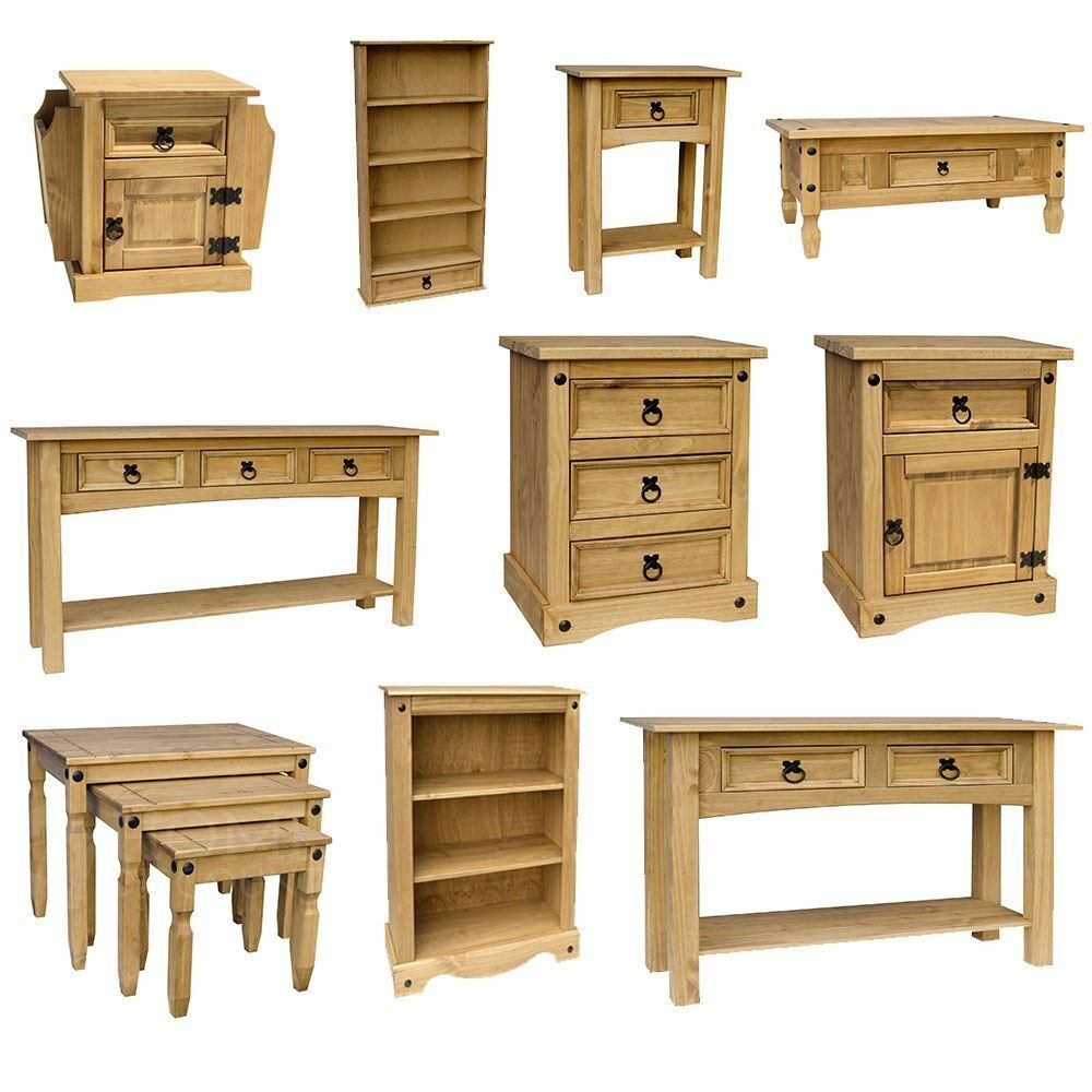 Corona Panama Mexican Solid Pine Wood Furniture Dining