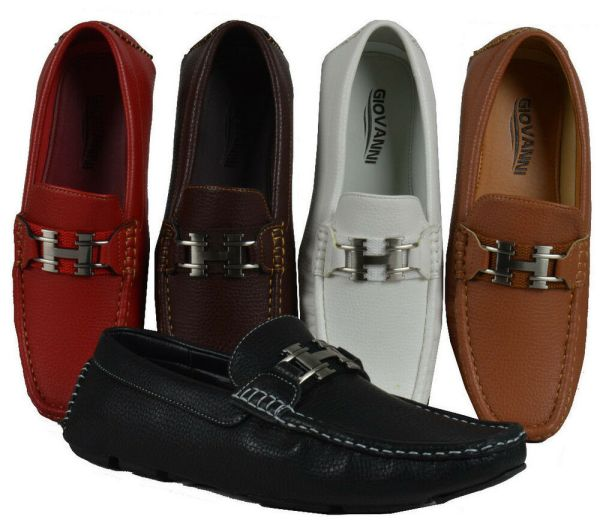 Men's Loafers Giovanni Dress Shoes Moccasin Wedding Prom ...