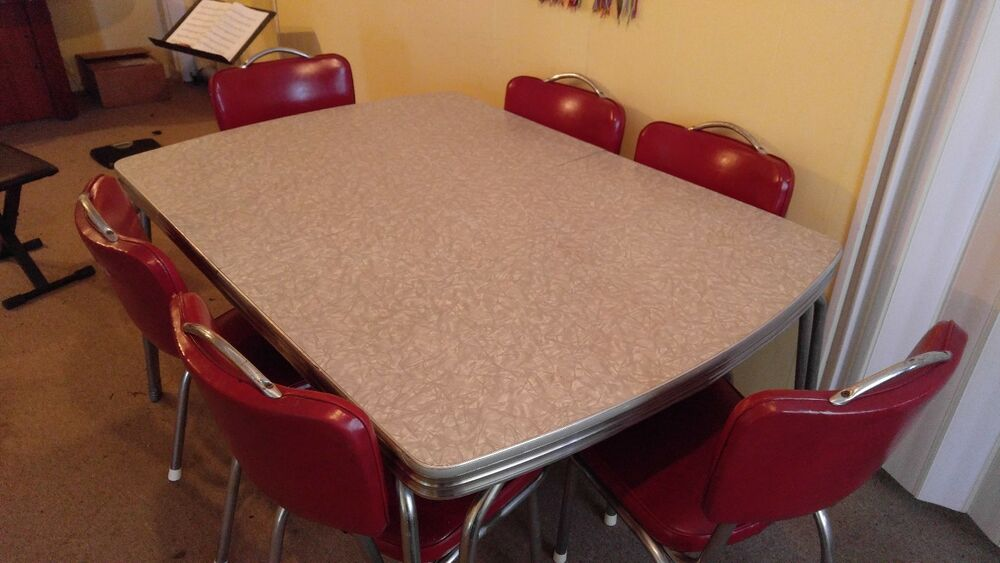 Table And 6 Chairs 1950s Classic Kitchen Dinning Set EBay