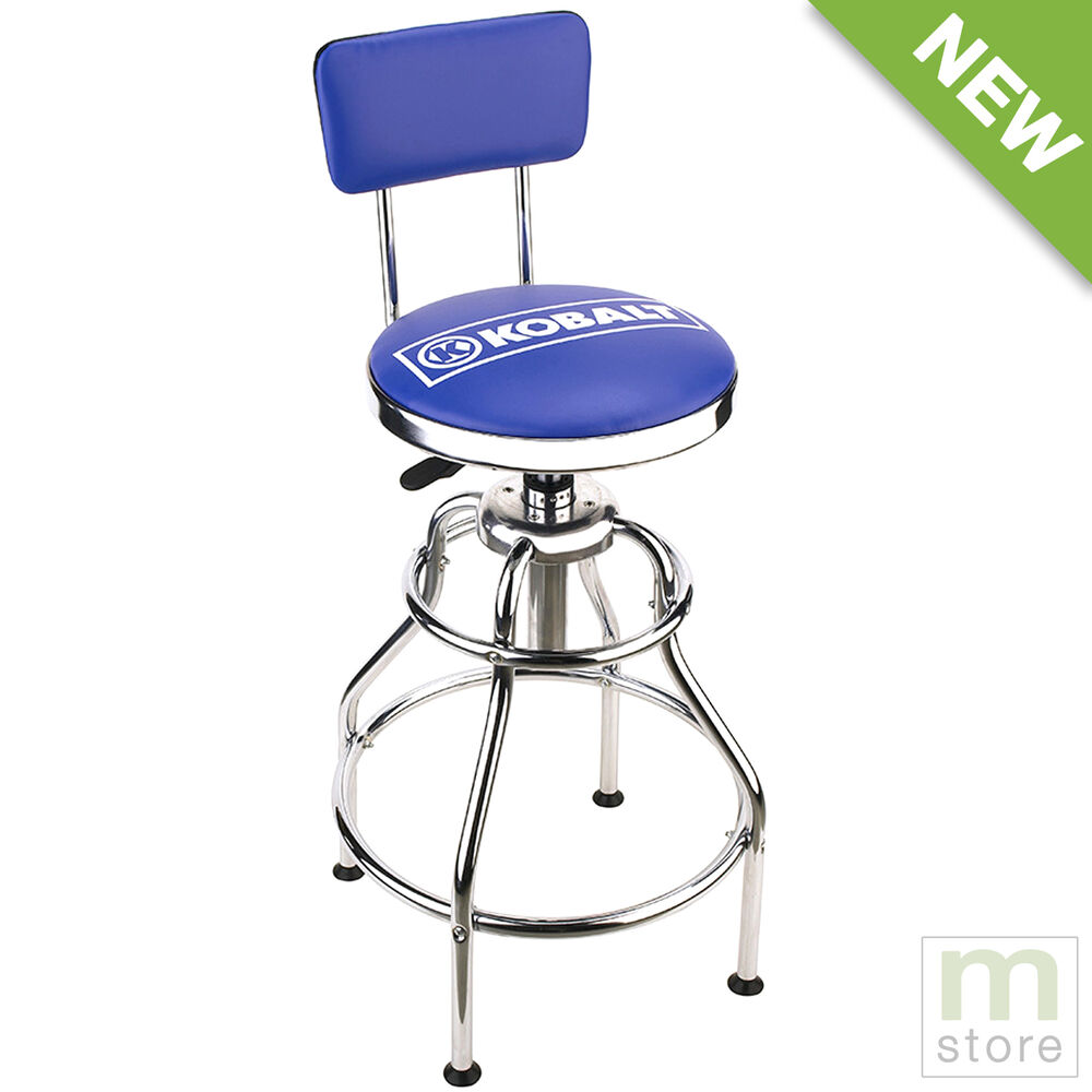 Kobalt Adjustable Hydraulic Stool Mechanic Seat Chair Work