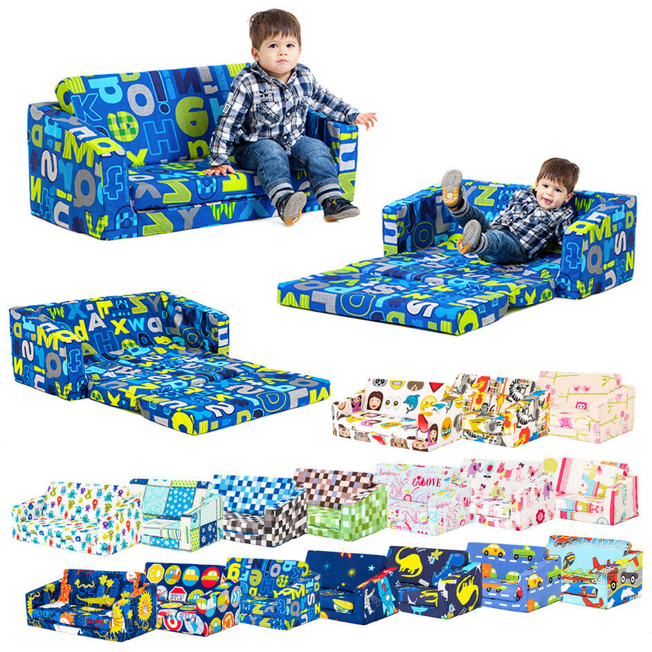 Lily Kids Flip Out Sofa Sleep Over Fold Chair Z Bed