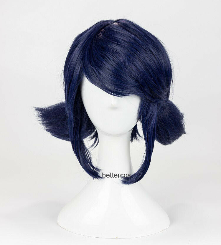 Miraculous Ladybug Wig Marinette Cosplay Wigs Blue Hair