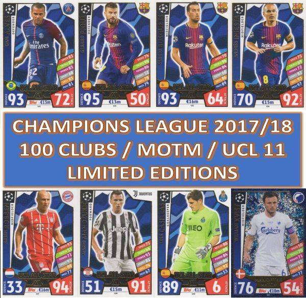 Match Attax Champions League 2017/2018 17 18 100 CLUB ...