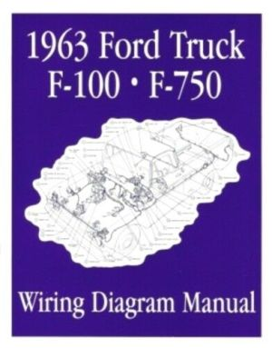 FORD 1963 F100  F750 Truck Wiring Diagram Manual 63 | eBay