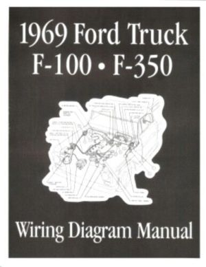 FORD 1969 F100  F350 Truck Wiring Diagram Manual 69 | eBay