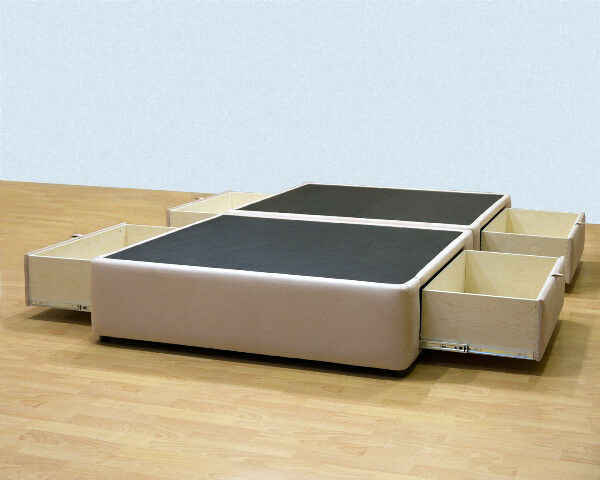 Platform Bed With Storage Drawers Uphostered Storage Bed