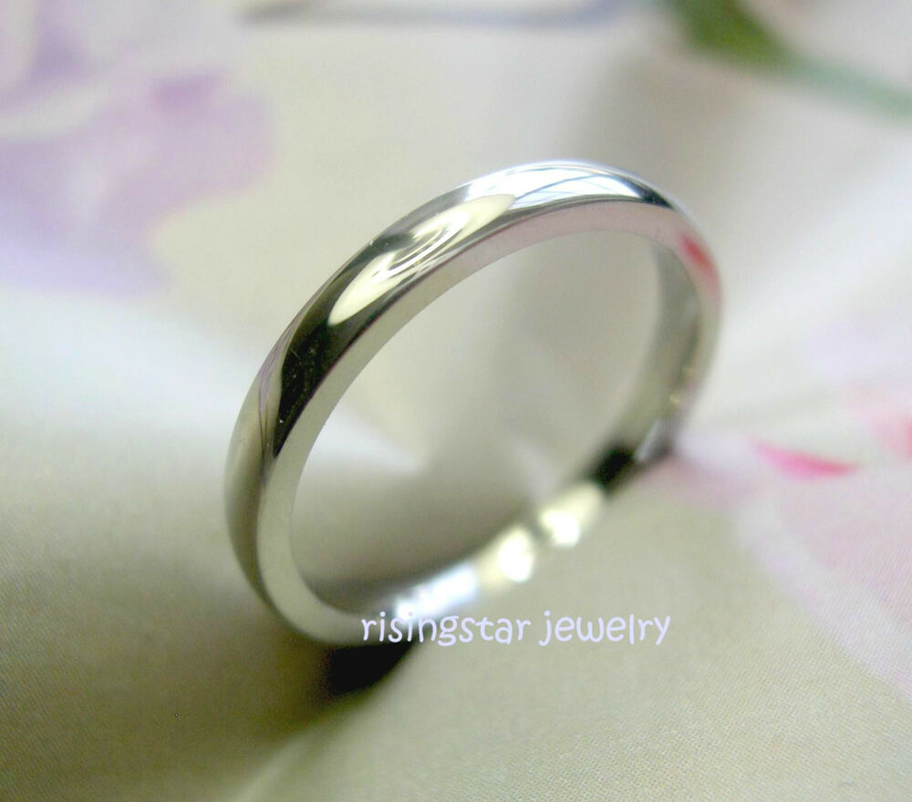 Lady Elegant 25mm Stainless Steel Classic Wedding Band