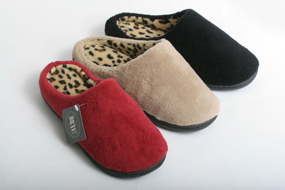 new women cozy leopard print clog house bedroom slippers read