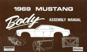 1969 Ford Mustang Body Assembly Manual Book Instructions Drawings OEM   eBay