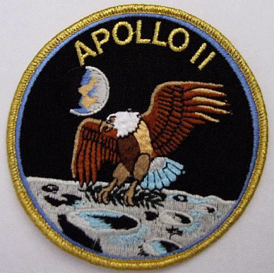 Apollo 11 Mission Patch Official NASA Neil Armstrong Buzz Aldrin Made In USA eBay