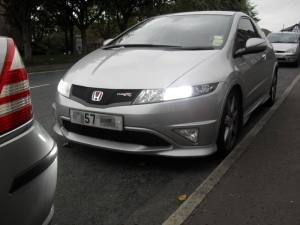 honda civic fn2 hid xenon lights conversion kit h7 slim Black Bedroom Furniture Sets Home