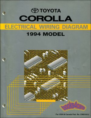 COROLLA TOYOTA 1994 MANUAL ELECTRICAL WIRING DIAGRAM SHOP