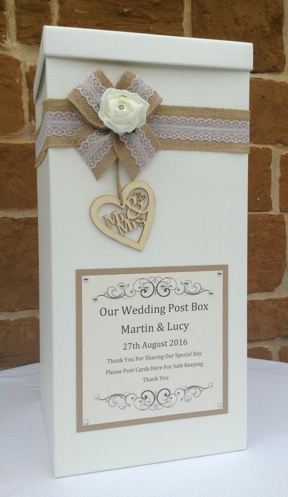 Vintage Wedding Card Post Box Wedding Favours Table Centrepieces Wishing Well EBay
