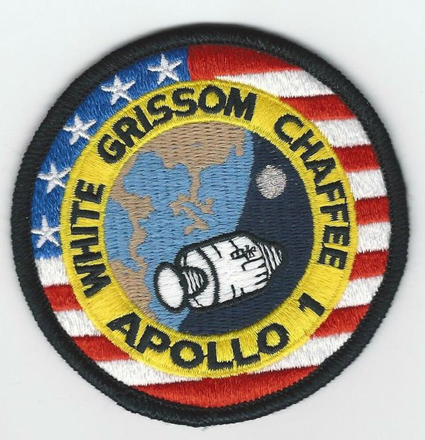 Apollo 1 Mission Patch Emblem 3 Inch NASA Made In USA White Grissom Chaffee eBay