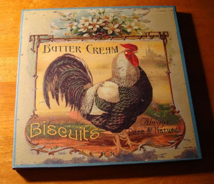 French Country Style Rooster Kitchen Sign Home Decor New
