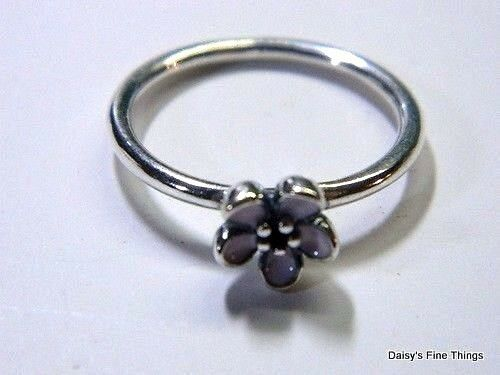 AUTHENTIC PANDORA RING CHERRY BLOSSOM WITH PINK ENAMEL