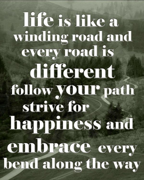 Inspirational/Motivational Poster/Life is like a winding ...