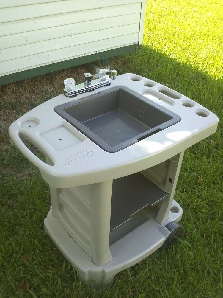 Portable Outdoor Sink Garden Camp Kitchen Camping RV New ... on Outdoor Patio Sink id=31959