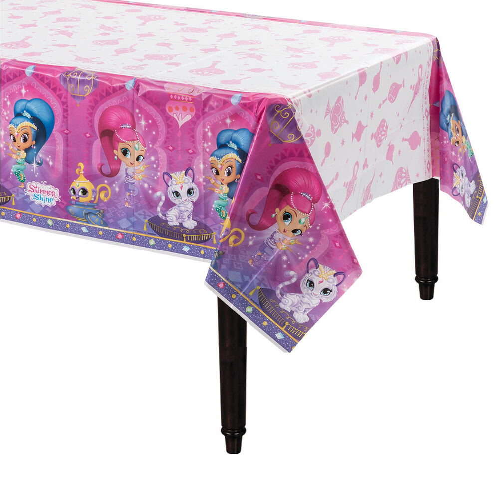 Shimmer And Shine Birthday Plastic Table Cover 54 Quot X 96