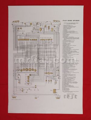 Fiat Dino 2000 Spider Wiring Diagram 59x84 cm New | eBay