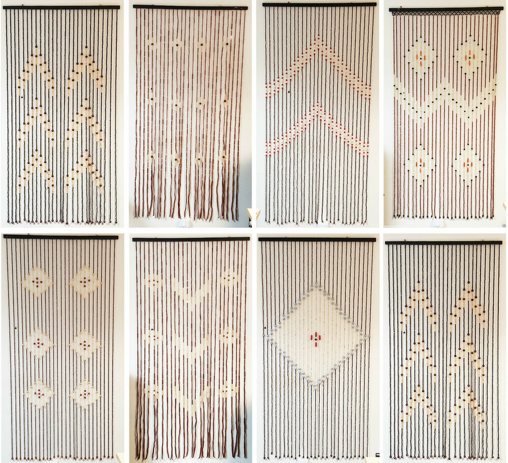 WINDOW BAMBOO BEADED STRING BLINDS CURTAINS ROOM DOOR DIVIDER TASSEL FLY SCREEN EBay