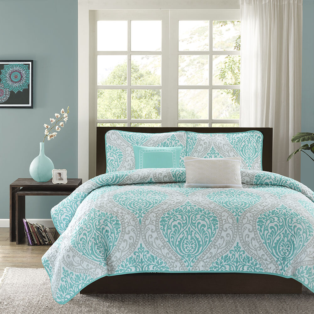 title | Gray White And Teal Bedroom