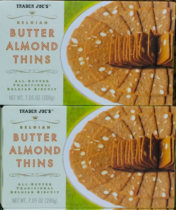 2 Boxes Trader Joe's Butter Almond Thins Traditional ...