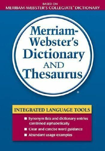 Merriam-Webster's Dictionary and Thesaurus ...